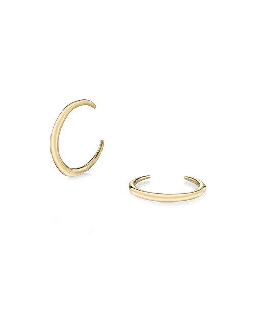 Gabriela Artigas Mini Rising Tusk Earrings in 14K Gold