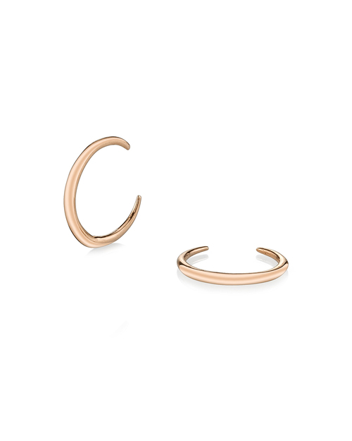 Gabriela Artigas Mini Rising Tusk Earrings in 14K Rose Gold