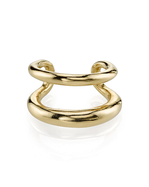 Gabriela Artigas Twin Tusk Cuff in Gold