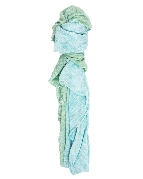 Grisal Arena Duo Ramie Scarf in Aqua & Mint