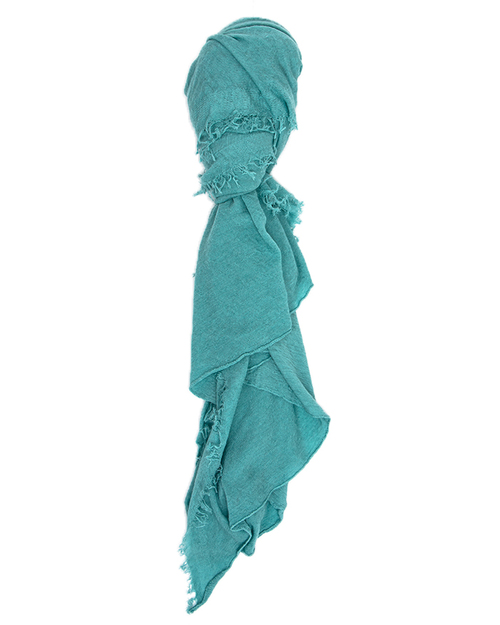 Grisal Isola Cashmere + Silk Scarf in Sea Green
