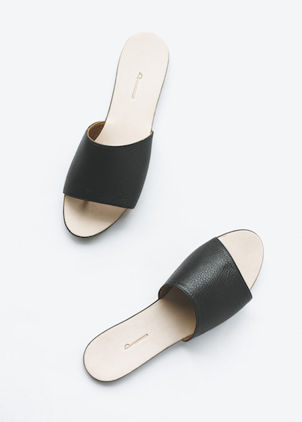 The Palatines - Caelum Slide Sandal in Black