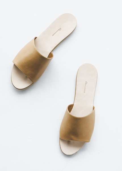 The Palatines - Caelum Slide Sandal in Tan