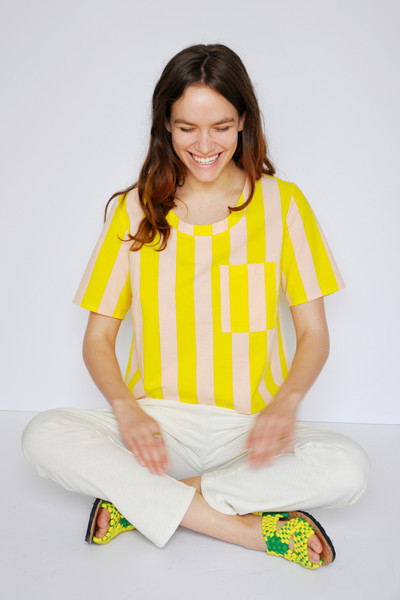 Dusen Dusen Stripe Pocket Tee