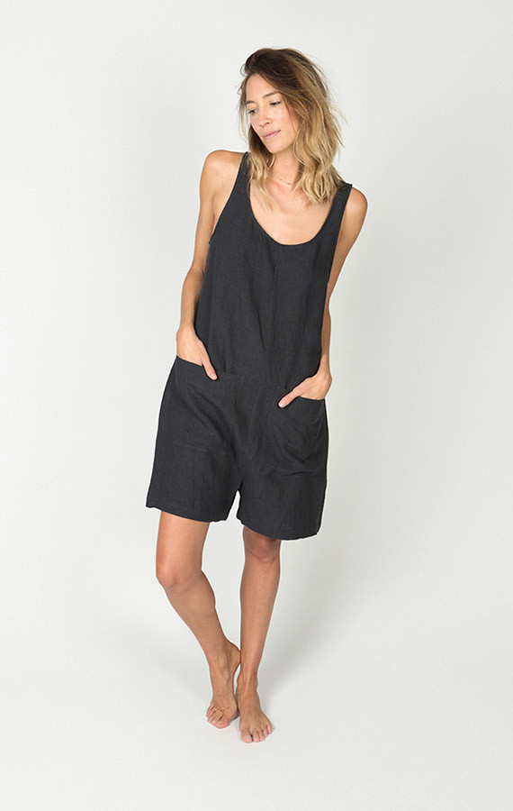 Ilana Kohn Gary Romper Faded Black