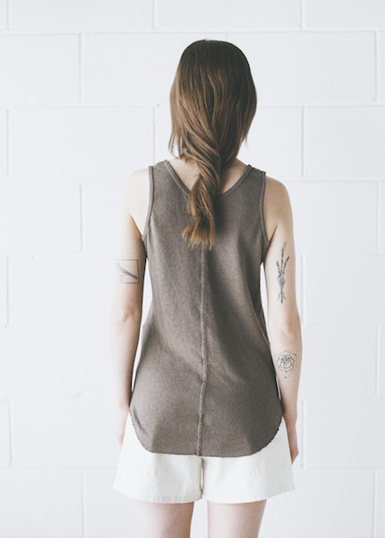 Black Crane - Tank Top in Gray