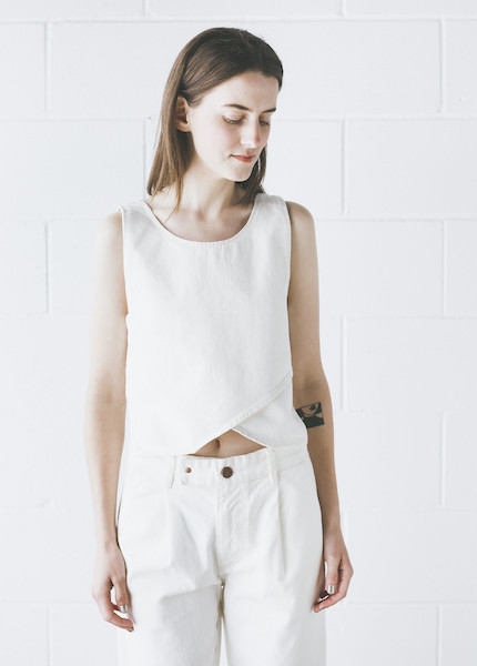 Objects Without Meaning - Crop Top in White