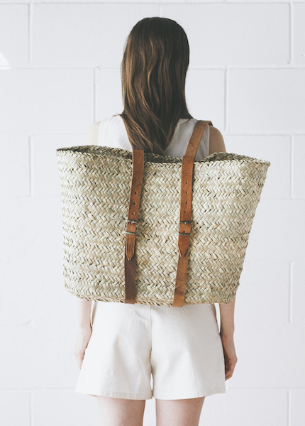 Handwoven French Market Backpack