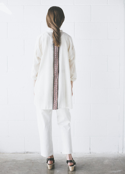 Maiwa - Rajasthan Shirt in Cream