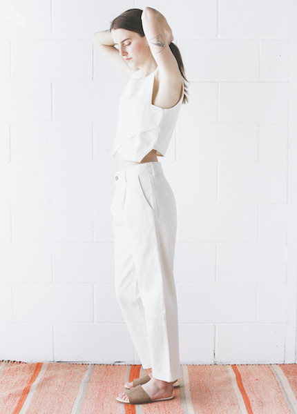 Objects Without Meaning - Patch Trouser in White