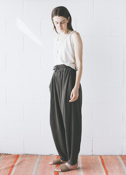 Black Crane - Jersey Pant in Charcoal