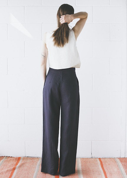 Sunja Link - Pant in Navy