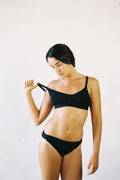 The Nude Label Sporty Bra- Black