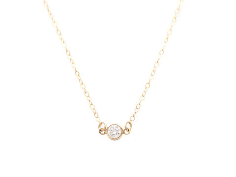 Seoul Little Cubic Stone Necklace