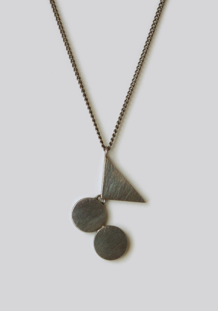 Naoko Ogawa Circles and Triangle Fulcrum Necklace