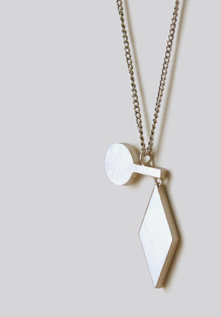 Naoko Ogawa Diamond Circle Fulcrum Necklace
