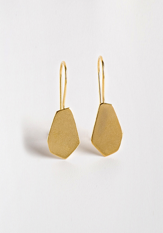 Contour Studio Small Gold Nugget Earrings
