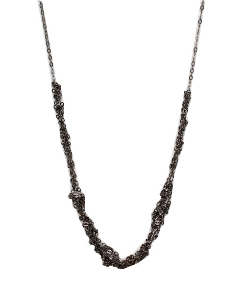 love + keep the mini necklace gunmetal