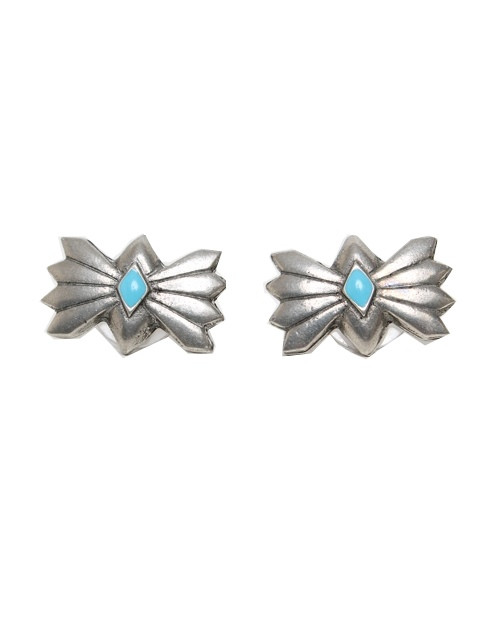 the 2 bandits bandit bow tie stud earrings