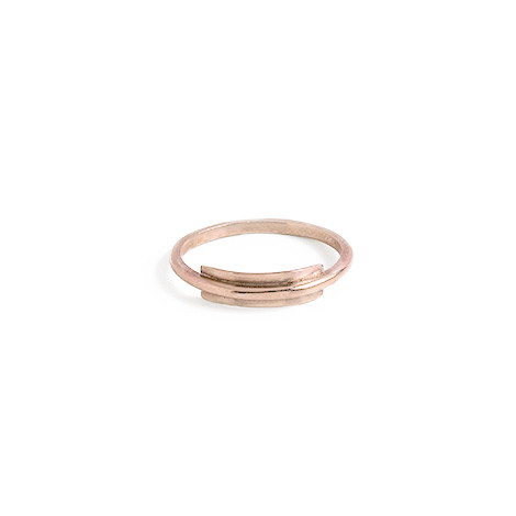 Knobbly Studio Line + Surface Ring in Rose Gold