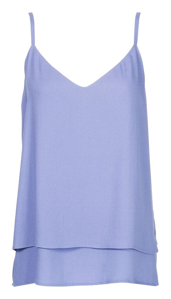 "Storm and Marie ""Lucca"" Sleeveless Double Layer Top in Serenity"