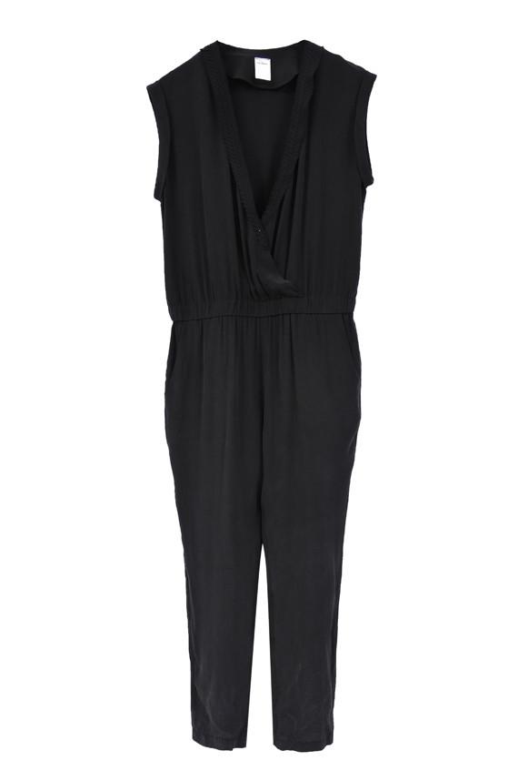 The Korner Deep V-Neck Cap Sleeve Pantsuit