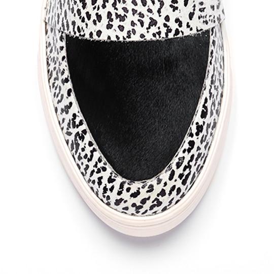 Loeffler Randall  Irini Leather Platform Sneaker