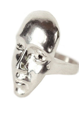 Open House The Face Ring w/Black Diamonds