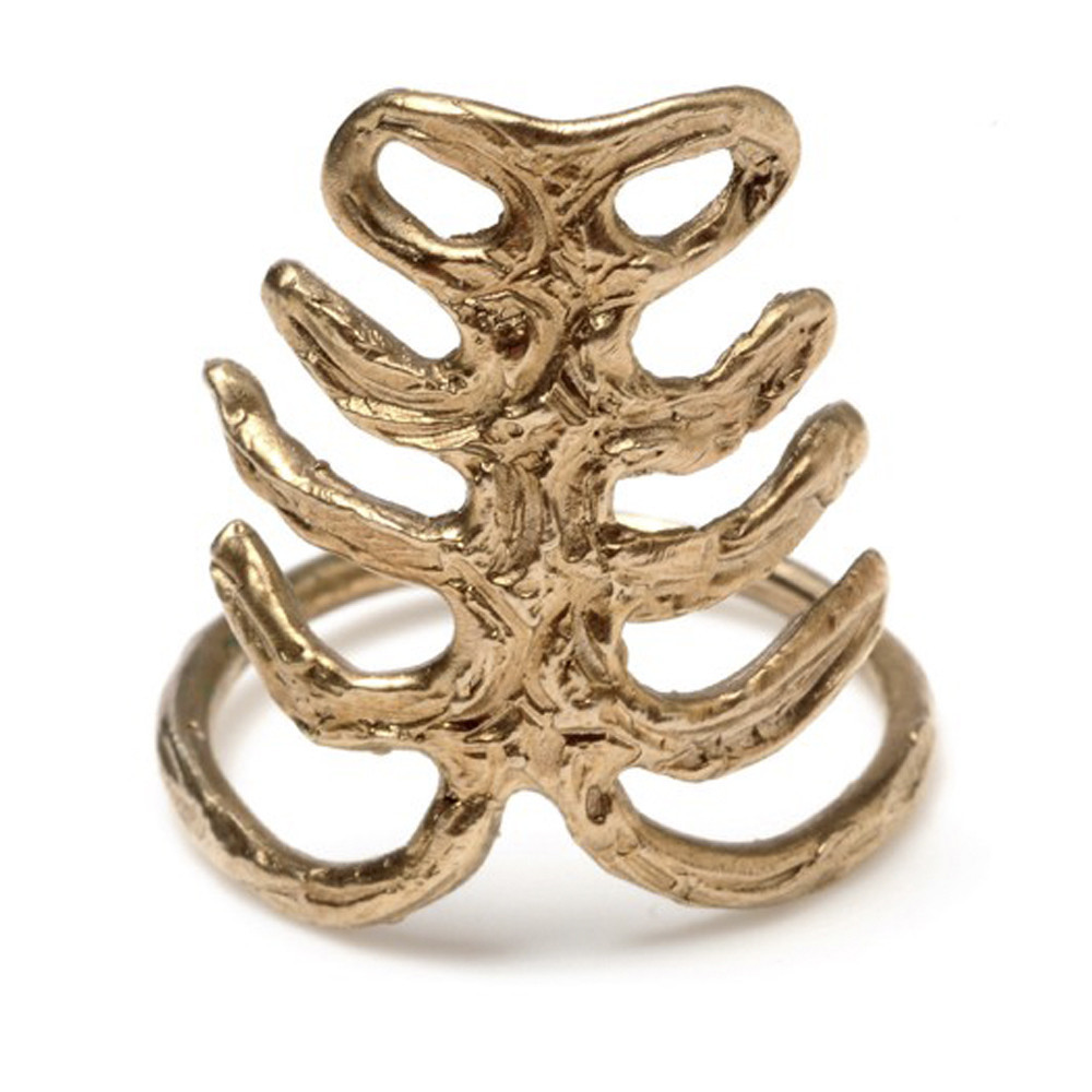 odette ny rib ring bronze from the hunted few garmentory