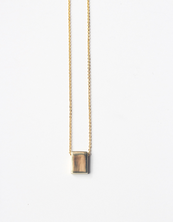 Laura Lombardi Small Square Necklace