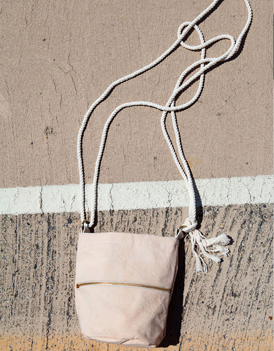Lotfi Pink Mini Bucket Bag