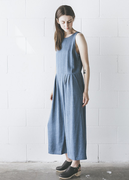 First Rite - Crop Pantsuit in Denim