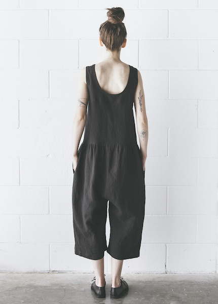 Ilana Kohn - Samet Jumpsuit in Faded Black