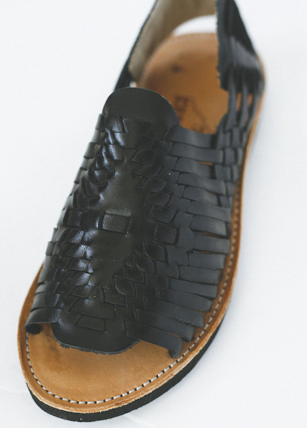 Chamula - Chichen Weave Sandal in Black