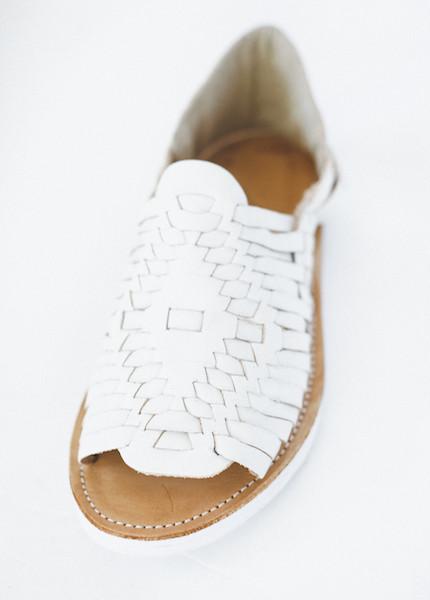 Chamula - Chichen Weave Sandal in White