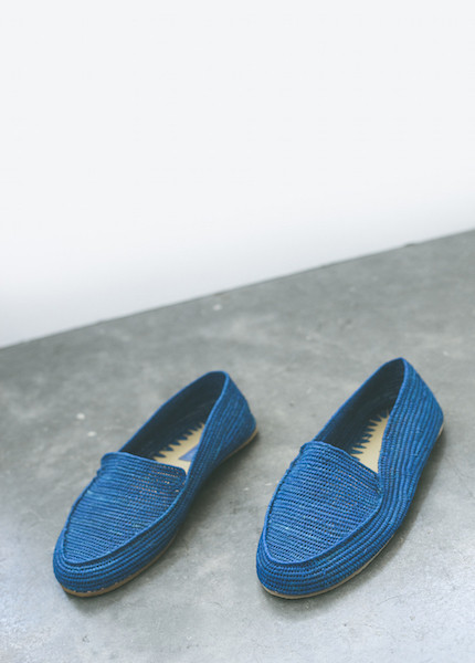 Proud Mary - Cobalt Crochet Loafer