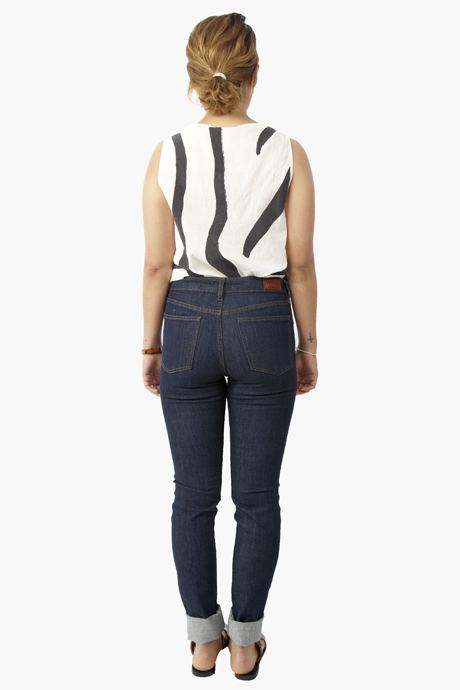 Courtshop - High Waist Skinny/Rinse