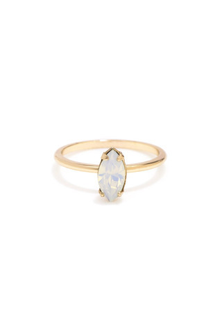 Bing Bang NYC Tiny Marquis Ring Rose Gold Opal