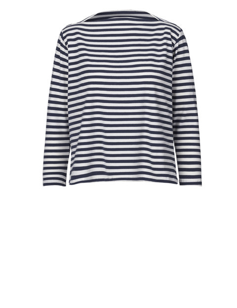 "Just Female ""Kath"" Short Sleeve Fitted Nautical Striped Top"