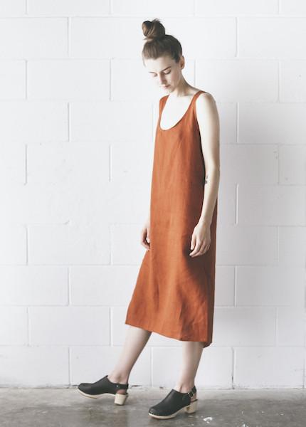 Ursa Minor - Chaouen Dress in Terracotta