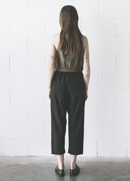 Uzi -  Drop Crotch Pants in Black