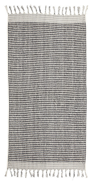 Lowell Tama Towels / Serviette Checker - Blanc Noir