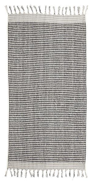 Lowell Tama Towels / Serviette Checker - Blanc Noir