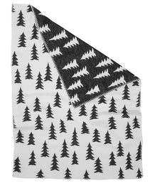 FINE LITTLE DAY GRAN BLANKET BRUSHED ECO COTTON BLACK/WHITE EDGE