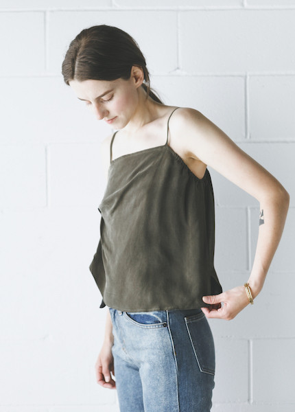 Objects Without Meaning Twist Lounge Tank - Olive
