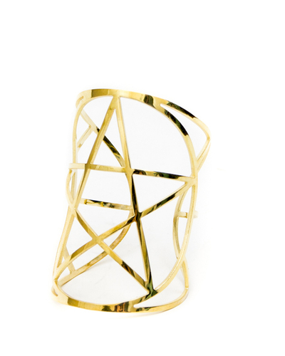 Pamela Love Mini Pentagram Cuff - Brass
