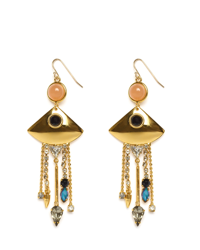Lizzie Fortunato Mexico Fringe Earrings