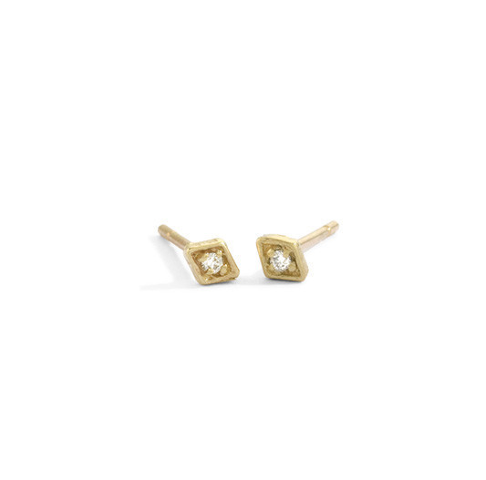 Blanca Monrós Gómez Tiny Diamond Filagree Stud Earrings
