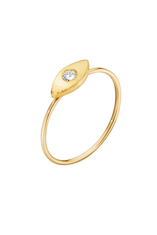 "Katrine Kristensen - ""Eye"" 24K Gold Ring With Diamond Eye"