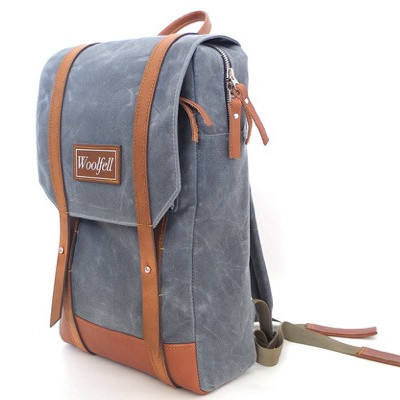 WOOLFELL - SAC À DOS WARRIOR - GRIS & TAN